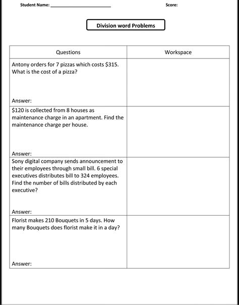 5th grade math worksheets printable with answers