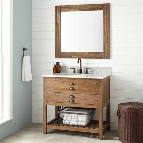vanity cabinet 36 quot benoist reclaimed wood vanity for undermount sink