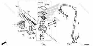 Honda Motorcycle 2019 Oem Parts Diagram For Front Brake