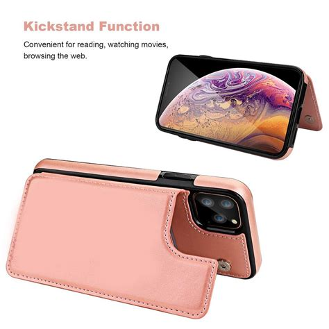 One case to replace your wallet, it holds your phone, cards and cash together! Card Holder Pocket Flip Leather Case Cover for iPhone 11 / 11 Pro / 11 Pro Max | eBay