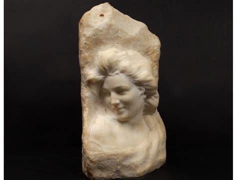 Carrara marble bust sculpture ancient vestal woman F