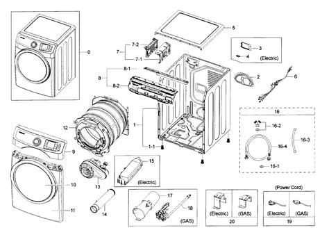 samsung dryer parts dv42h5000ewa30000 sears partsdirect