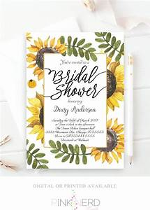 sunflower wedding shower invitations sunflower bridal With wedding shower invitations with sunflowers
