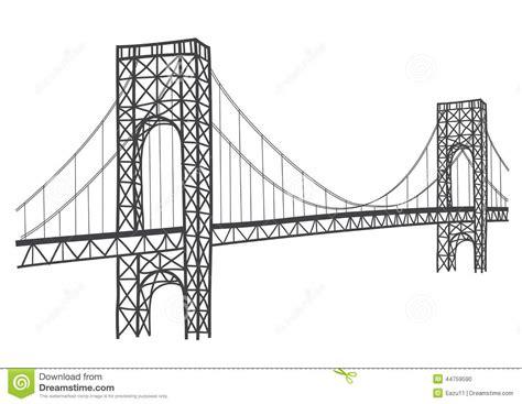 George Washington Bridge Drawing Stock Illustration ...