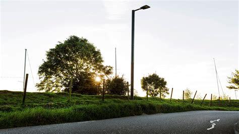 solar street l post solar light post soluxio the autonomous solar powered