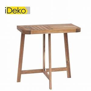 Table Pliante D Appoint : ideko demi table haute d 39 appoint pliante en acacia huil ~ Melissatoandfro.com Idées de Décoration
