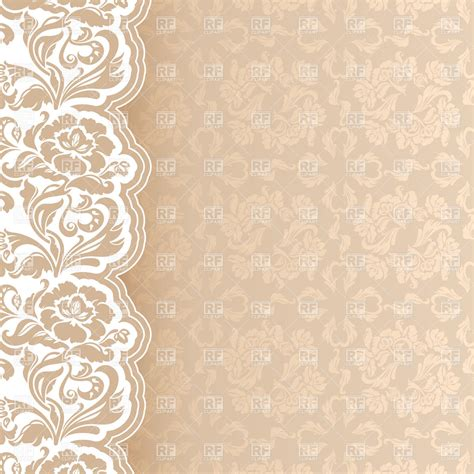 Burlap Shower Curtain by Beige Victorian Lacy Background Vector Clipart Image