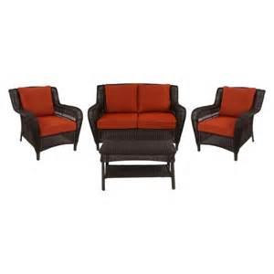 threshold madaga 4 piece wicker patio conversat target