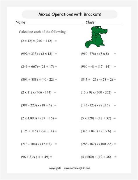 image result  bodmas worksheets grade  math