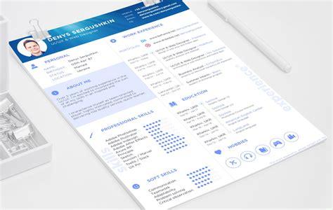 free resume template psd sketch free psd ui