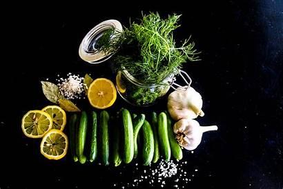 Bay Pickles Garlic Dill Lemon Visit Leaves