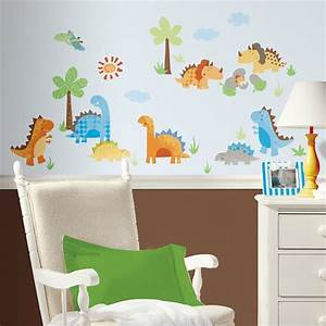 New dinosaurs wall decals dinosaur stickers kids bedroom for Nice ideas dinosaur decals for walls