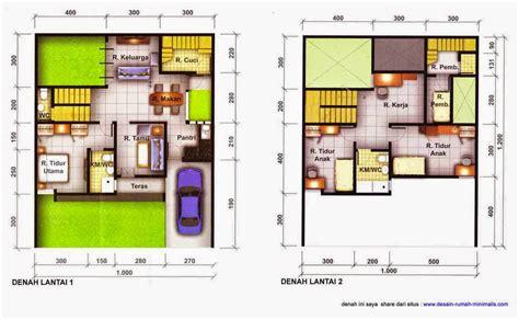 desain rumah minimalis 2 lantai 2 kamar tidur gambar