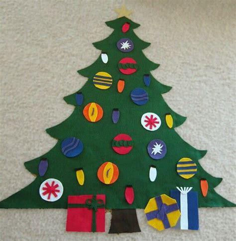 felt christmas tree craft christmas pinterest