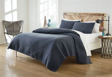 Quilted Coverlet by Cannon Solid Quilt Set Denim Home Bed Bath