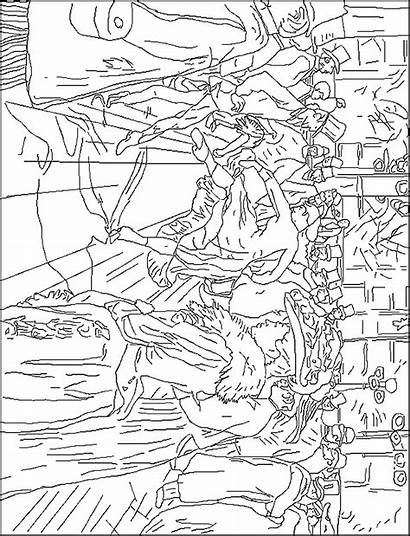 Famous Paintings Coloring Pages Painters Degas Edgar
