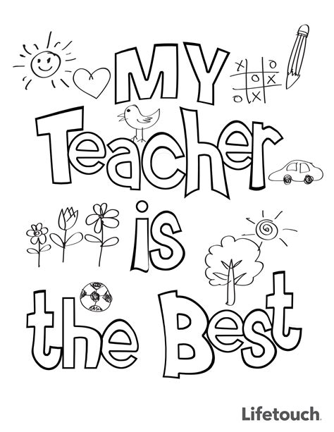 teacher appreciation coloring sheet teacher appreciation
