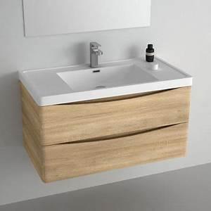 meuble pour salle de bains en chene clair livre avec With meuble pour evier salle de bain