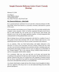 sample character reference letter for court hearing ...