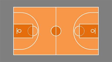 Outdoor Basketball Court Template Basketball Court Plan Powerpoint Shapes Slidemodel