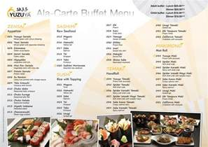Restaurant Buffet Menu Ideas