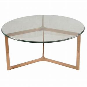 monza round coffee table glass top rose gold boulevard With rose gold round coffee table