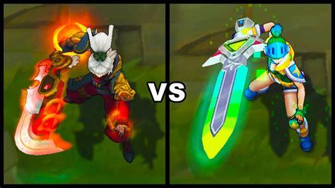 Dragonblade Riven Vs Arcade Riven Epic Skins Comparison