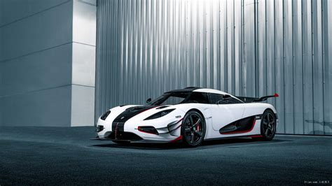 koenigsegg one 1 wallpaper 科尼塞克白色超跑图片