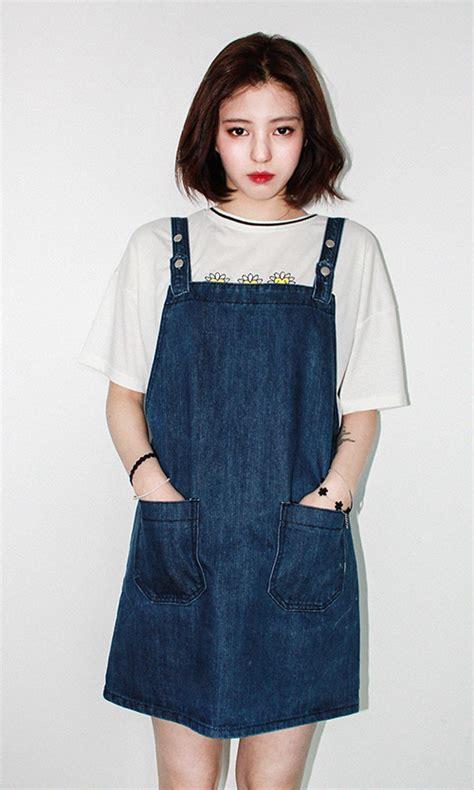 [Mixxmix] Basic Denim Dress Jumper | KSTYLICK - Latest Korean Fashion | K-Pop Styles | Fashion Blog