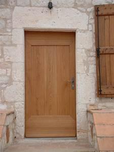 installation thermique porte en chene massif privilege With porte de garage et porte interieur chene massif
