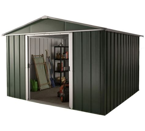 argos 6 x 10 shed buy hercules deluxe apex metal shed and floor frame 10 x