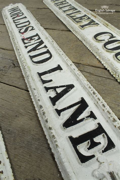 selection  victorian cast iron road signs