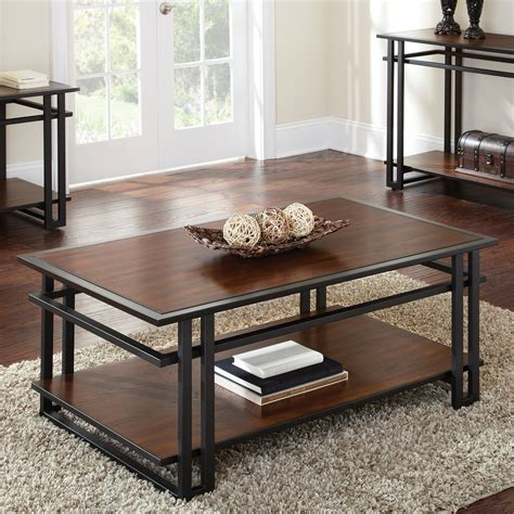 These wooden rectangle coffee table are offered in various shapes and sizes ranging from trendy to classic ones. Steve Silver Micah Rectangle Cherry Wood Coffee Table at Hayneedle
