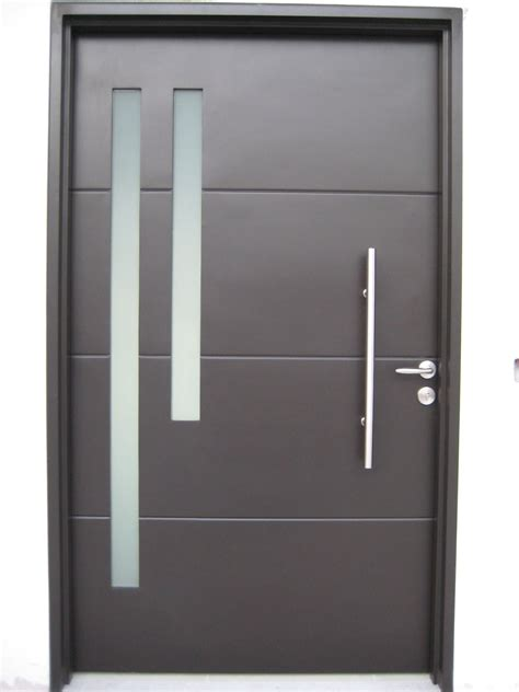 They exceed all industry standards and create a luxurious, unique, and special trademark to any project. Portella Modern Series Doors | Steel doors and windows, Steel frame construction, Steel doors