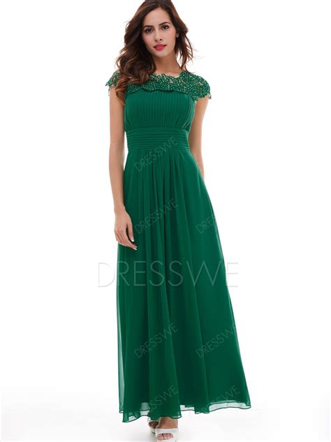 cap sleeves lace evening dress  vintage
