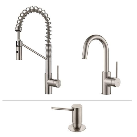 restaurant kitchen faucets kraus oletto single handle commercial style kitchen faucet