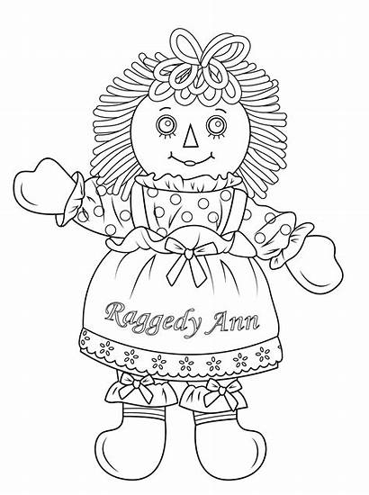 Coloring Doll Raggedy Ann Pages American Andy