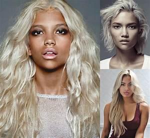 Amazing Effect Of Platinum Blonde On Dark Skin
