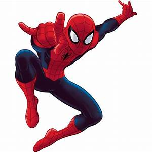 New giant ultimate spiderman wall decals spider man room for Spiderman wall decals