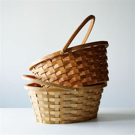 wood easter basket  food