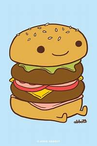 A cute burger | iPhone wallpapers | Pinterest | Burgers ...