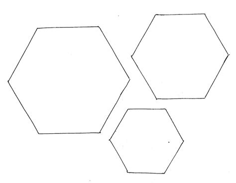 hexagon template patchwork paper templates home