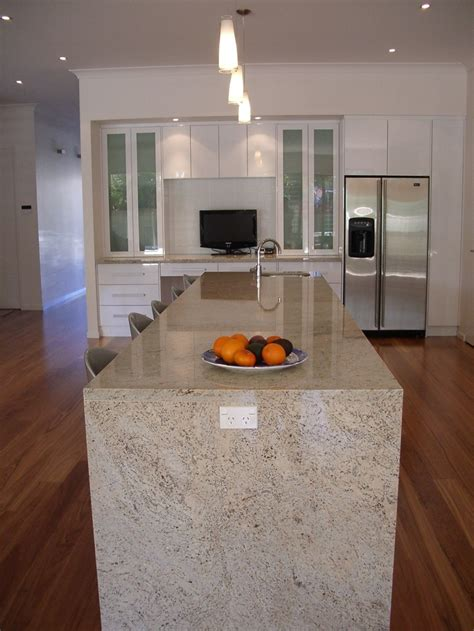 hardwood flooring for kitchens kitchen with polished benchtop and built in desk 4155