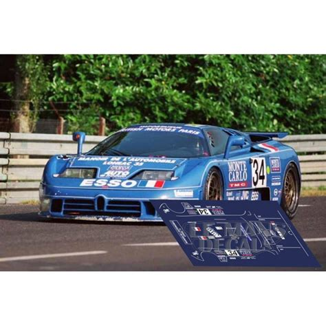The company declared bankruptcy in 1995. Bugatti EB110 - Le Mans 1994 nº34 - LEMANSDECALS