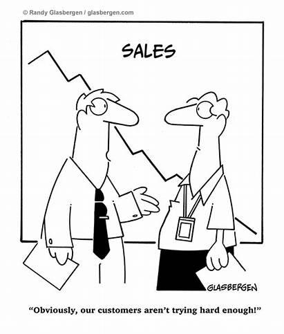 Sales Cartoons Service Glasbergen Customer Retail Call