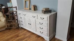 meuble television commode shabby chic tiroirs portes With meuble salle de bain shabby