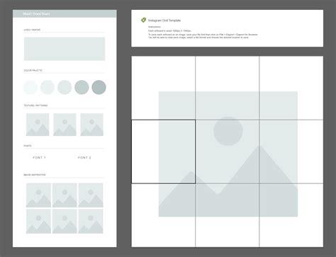 instagram grid template free instagram grid planner moodboard template creative market