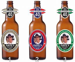 personalized beer bottle labels party favor waterproof labels With custom beer labels with photo