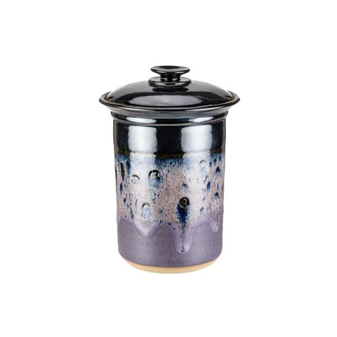 pottery kitchen canisters small pottery kitchen canister tea canister cookie jar