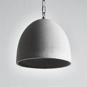 Architectural concrete pendant light by horsfall wright